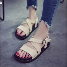 Women  Korean Muffin Bottom Casual Roman Sandals Plus Size
