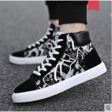 Men's Korean Wild Style High Top Canvas Casual Shoes