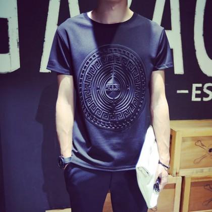 Plus Size XXXXXL Men T-Shirt Short Sleeve Round