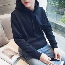 Men's Korean Hedging Style  Loose Hooded Long Sleeved Sweater