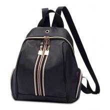 Women Korean Fashion  Zipper Pocket Oxford Casual Backpack