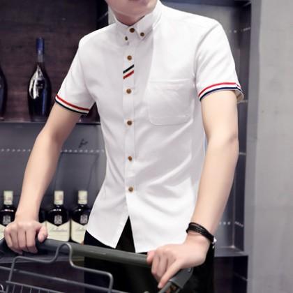 Size XXXXL Men Shirts Korean Long Sleeve