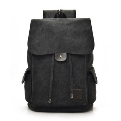 Men's Korean Trend College Travel and School  Canvas Bag