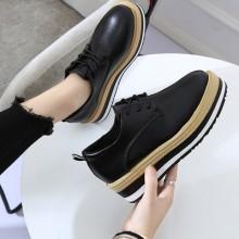 Women Korean Fashion Muffin Bottom Casual Flat College Shoes
