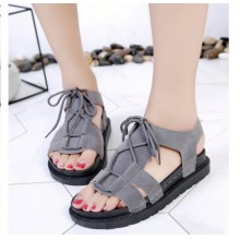 Women Korean Fashion Open Toe Muffin Bottom Roman Shoes
