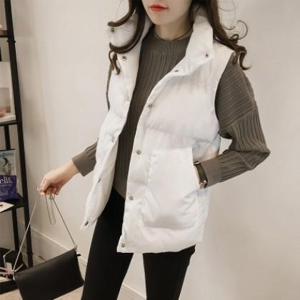 Women Korean Wild Fashion Plus Size Cotton Vest For Autumn And Winter
