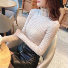 Women Korean Fashion Hedging Style Top Slim Fit  Pullover Longsleeve