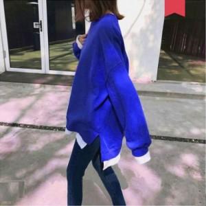 Women Korean Fashion Hedging Style Loose Longsleeved Sweater