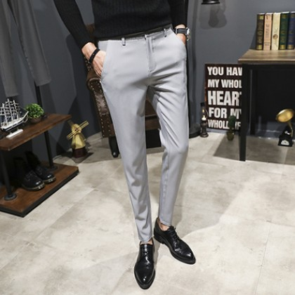 Men's Plus Size Formal Office Working Suit Slim Fit Trouser