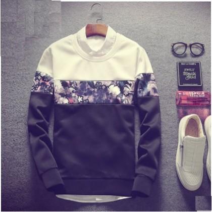 Men's Korean Trend  Round Neck Pullover over Sweater Plus Size