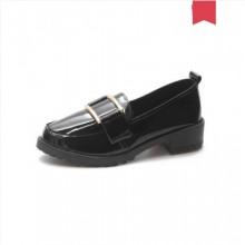 Women Korean Fashion Low Heel Round Head Casual Shoes Plus Size