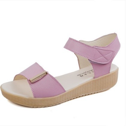 Women Korean Trend One Strap Flat Bottom Fashion Sandals