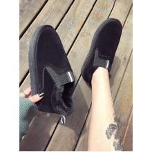 Women Korean Wild Style Short Tube Velvet Thick Bottom Winter Boots
