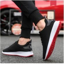 Men's Korean  Fashion Round Head Mesh Running Shoes