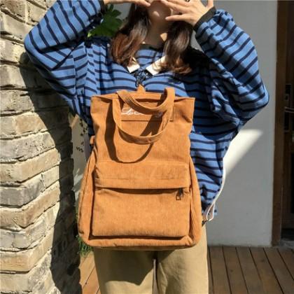 Women Korean Fashion Velvet Casual  3 Way Messenger Bag