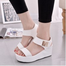 Women Korean Fashion Open Toe Roman Style Wedge Sandals
