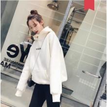 Women Korean Fashion Velvet  Harajuku Style Loose Winter Jacket