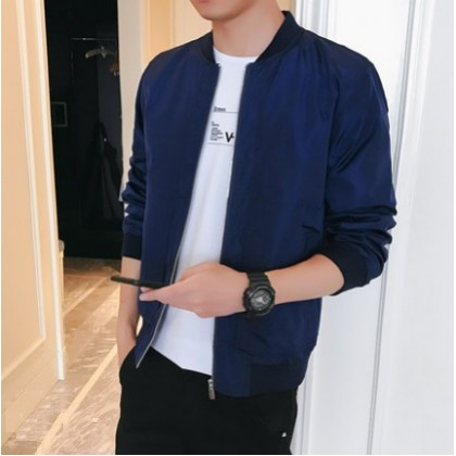 Men's Korean Youth Fashion City Style  Velvet Casual Jacket