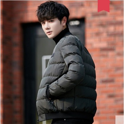 Men's Korean Youth Fashion Silk Cotton  Winter  Jacket