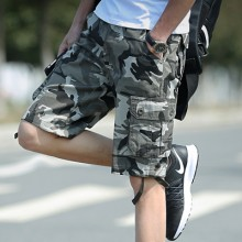 Men's Korean Youth Fashion Multi Pocket Camouflage Casual Tooling Shorts