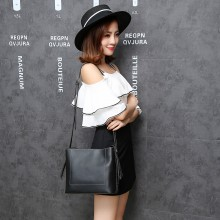 Women Korean Fashion Retro Wild Style Messenger Bucket Bag