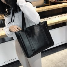 Women Korean Fashion Big  Zipper Pocket College Shoulder Bag