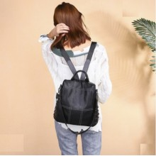Women Korean Fashion Soft Leather College Back Pack