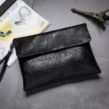 Men's Korean Trend Soft Leather Clutch Type Wrist Handbag