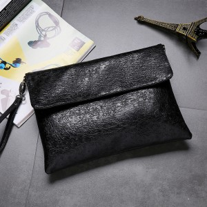 Men's Korean Trend Soft Leather Clutch Type Wrist Handbag