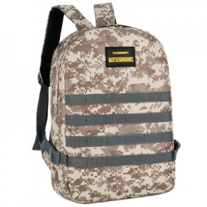 Men's Korean Trend PUBG Style Camouflage Canvas Back Pack