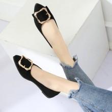 Women Korean Fashion Pointed  Low Heel Wild Shallow Scoop Shoes