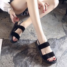 Women Korean Fashion Wild Style Thick Bottom Open Toe Roman Shoes
