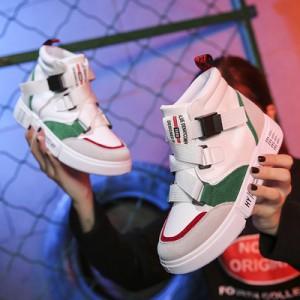 Women Korean Youth Fashion Wild High Top Velvet  Sneakers