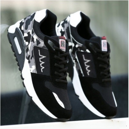 Men's Korean Youth Trend Lace Up Round Head Sports Outdoor Shoes