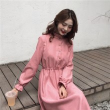 Women Korean Fashion Retro Corduroy A Skirt Type Dress