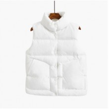 Women Korean Fashion Cool Winter Sleeveless Cotton Vest Jacket