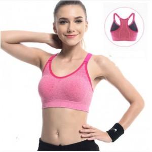Women Korean Fashion Plain Full Cup Vest Type Sports Bra