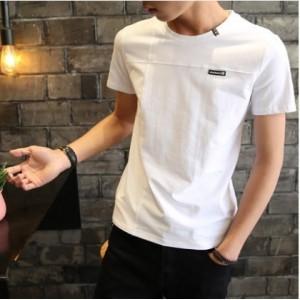 Men's Korean Trend Youth Pop Style Regular Short Sleeved Cotton T Shirt