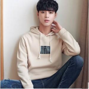 Men's Korean Trend Youth Style Loose Hooded Jacket