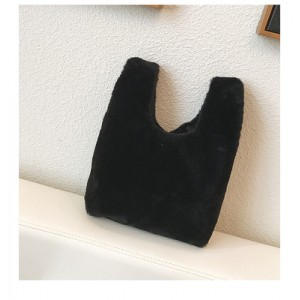 Women Korean Fashion Winter Wild Style  Small Hairy Handbag