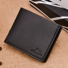 Men's New High Quality Leather Cross Section  Hipster Wallet