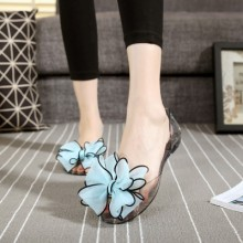 Women Fashionable Jelly Plastic comfortable Flat Sandals Plus Size