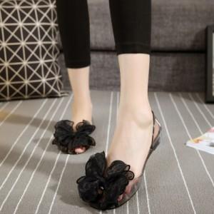 Women Fashionable Jelly Plastic comfortable Flat Sandals Plus Size