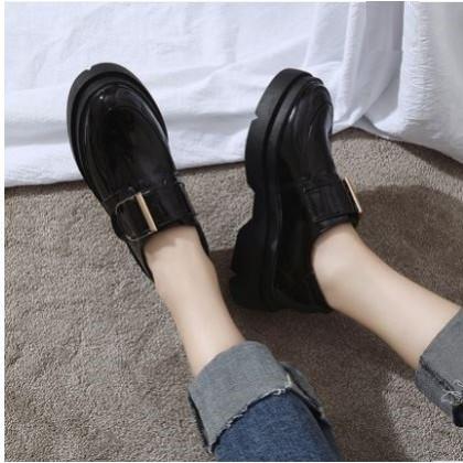 Women  Korean  Retro British Style Muffin Bottom Shoes Plus Size