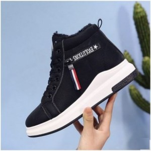 Women  Korean Trend New Sports Casula High Top Cotton Shoes