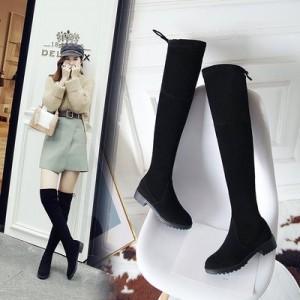 Women  Korean Fashion Over the Knee Suede Fashion Boots Plus Size