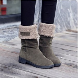 Women  Korean Fashion High Top Warm Velvet  Winter Boots Plus Size
