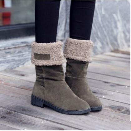 Women  Korean Fashion High Top Warm Velvet  Winter Boots Plus Size