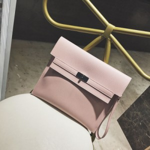 Women Korean  Fashion Trend Leather Strapless Envelope Bag