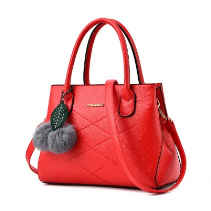 Women Korean Fashion Soft Leather Open Pocket Square box Handbag